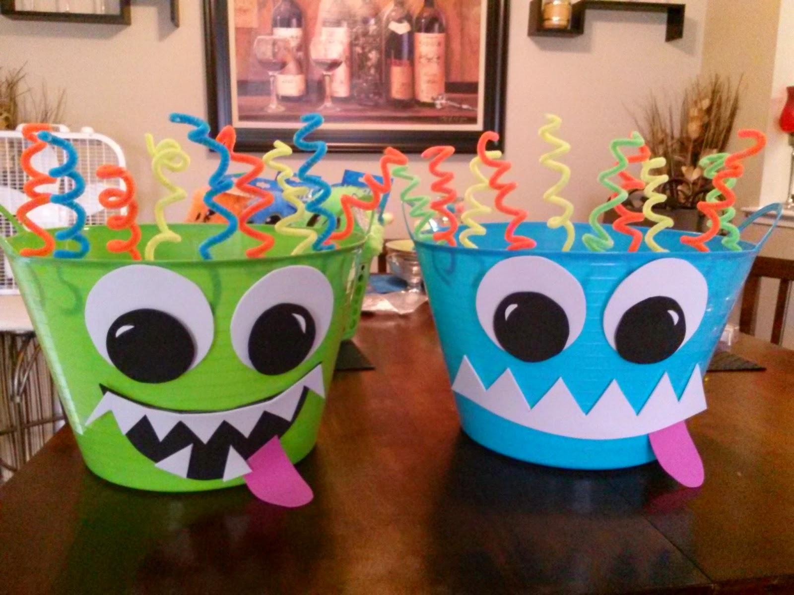 Austins 1st Birthday Monster Bash Dollar Store Decorations