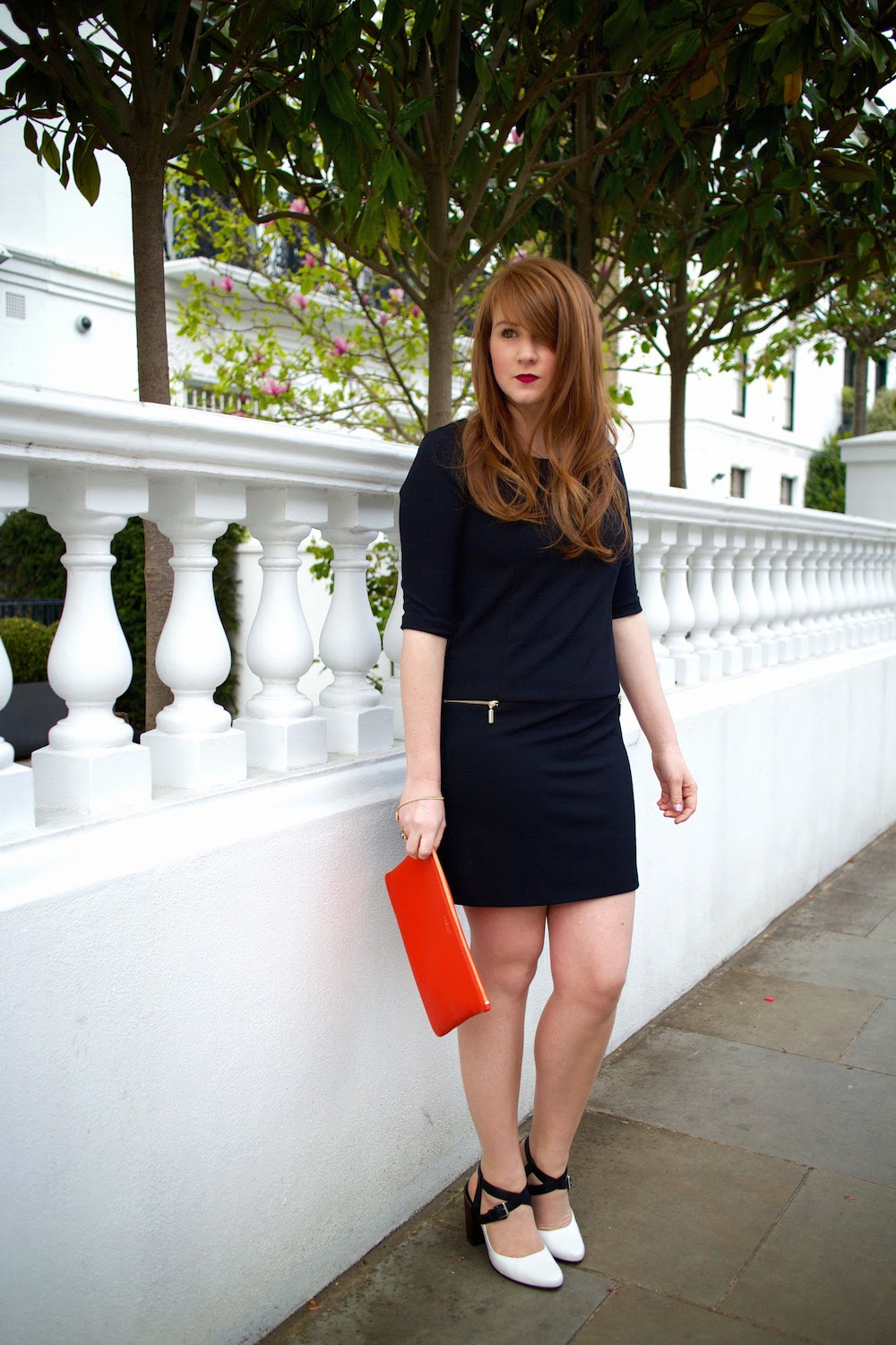 rinacscimento black shift dress from one65 and clarks crumble spice shoes