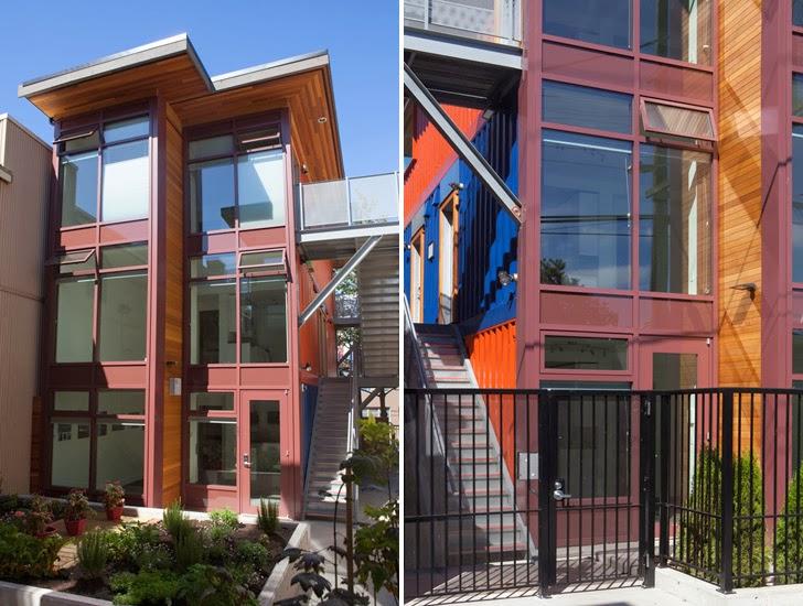 Casas contenedores casas sociales hechas con contenedores marinos en vancouver - Casas hechas con contenedores maritimos ...