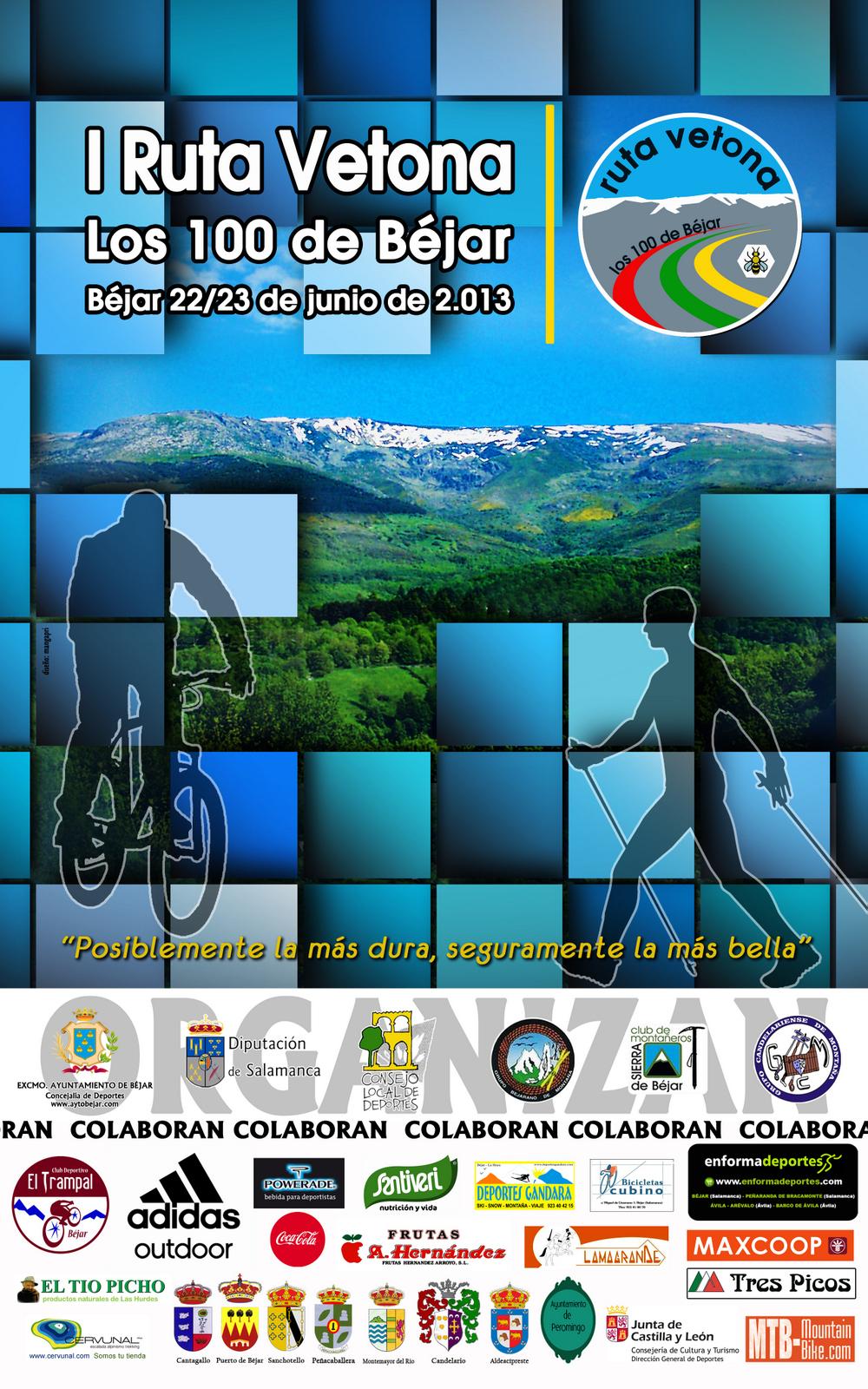 Cartel de la I Ruta Vetona Junuio de 2013