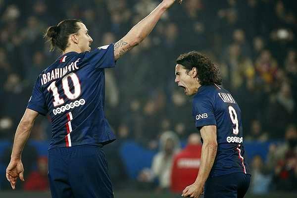 Ibrahimovic y Cavani