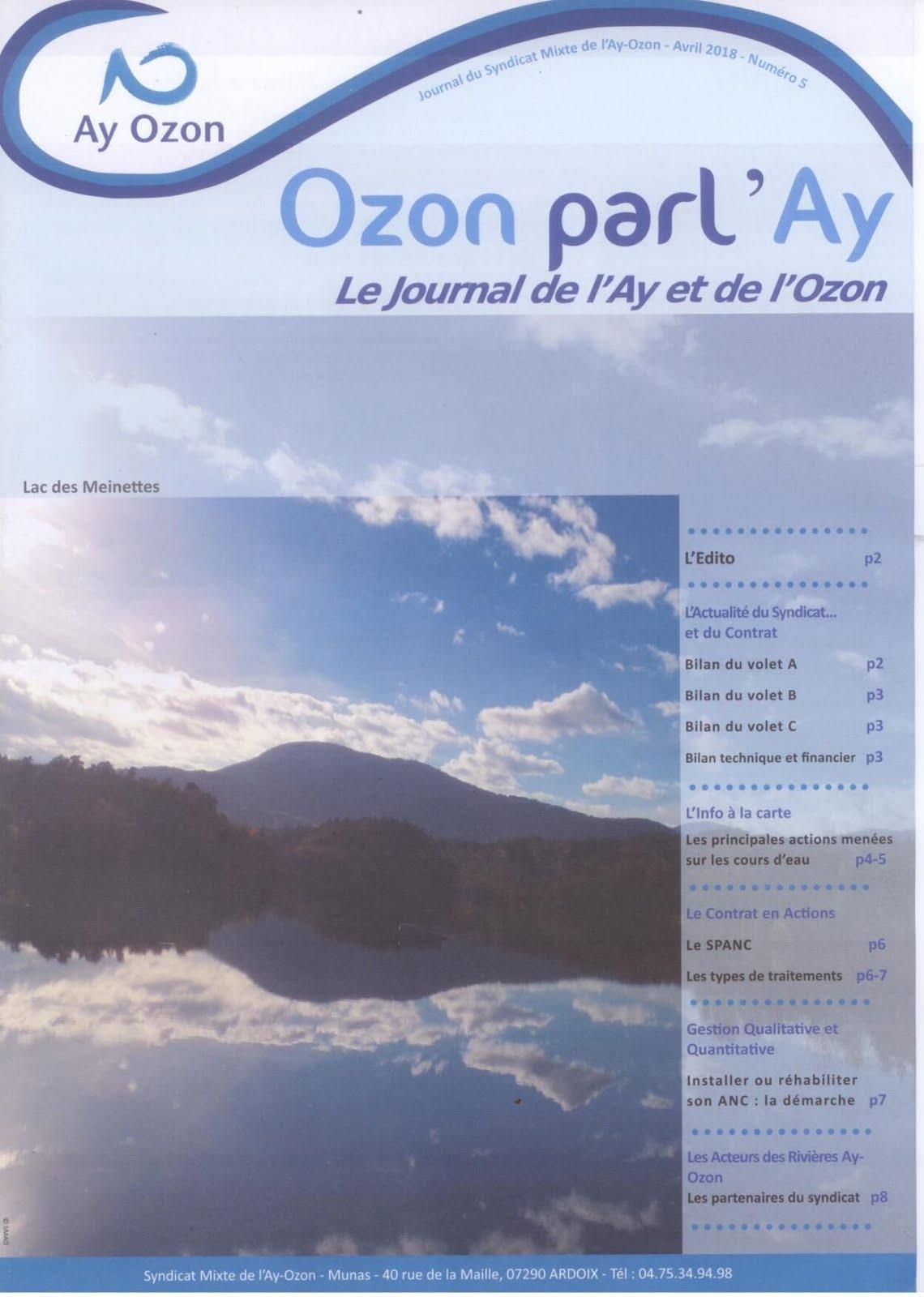 Gestion de l'Ay et de l'Ozon.