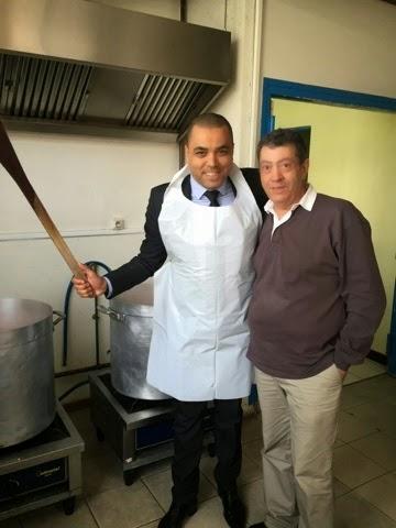 Avec le Président Fondateur de l'Association.