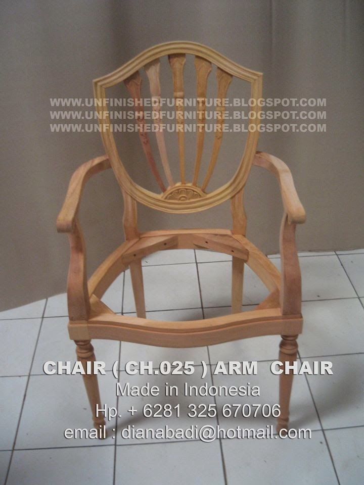 Unfinished Mahogany Furniture Wooden Frame Chair CH.