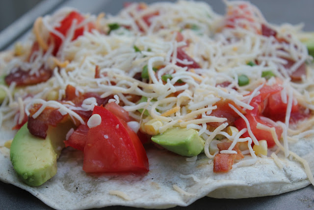 Grilled Mexican tortilla pizzas