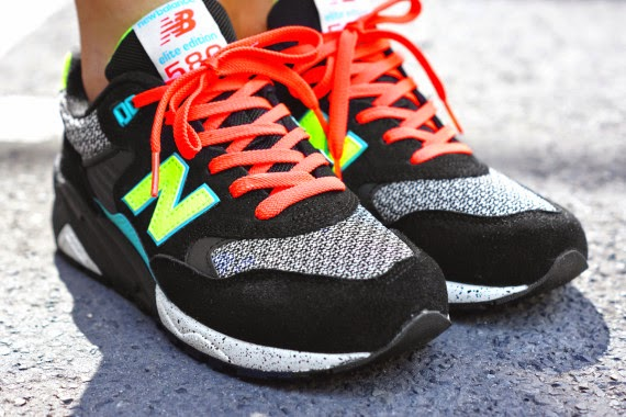 new balance 580 noir blanc orange