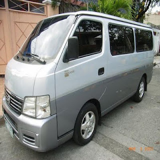 Nissan Urvan Van For Rent in Bohol (Bohol Rent A Van)