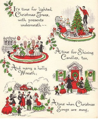 Vintage Holiday Graphics: 1950's Christmas cards