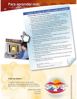 Apoyo Primaria Formación Cívica y Ética 4to grado Bloque I lección 2 Para aprender más