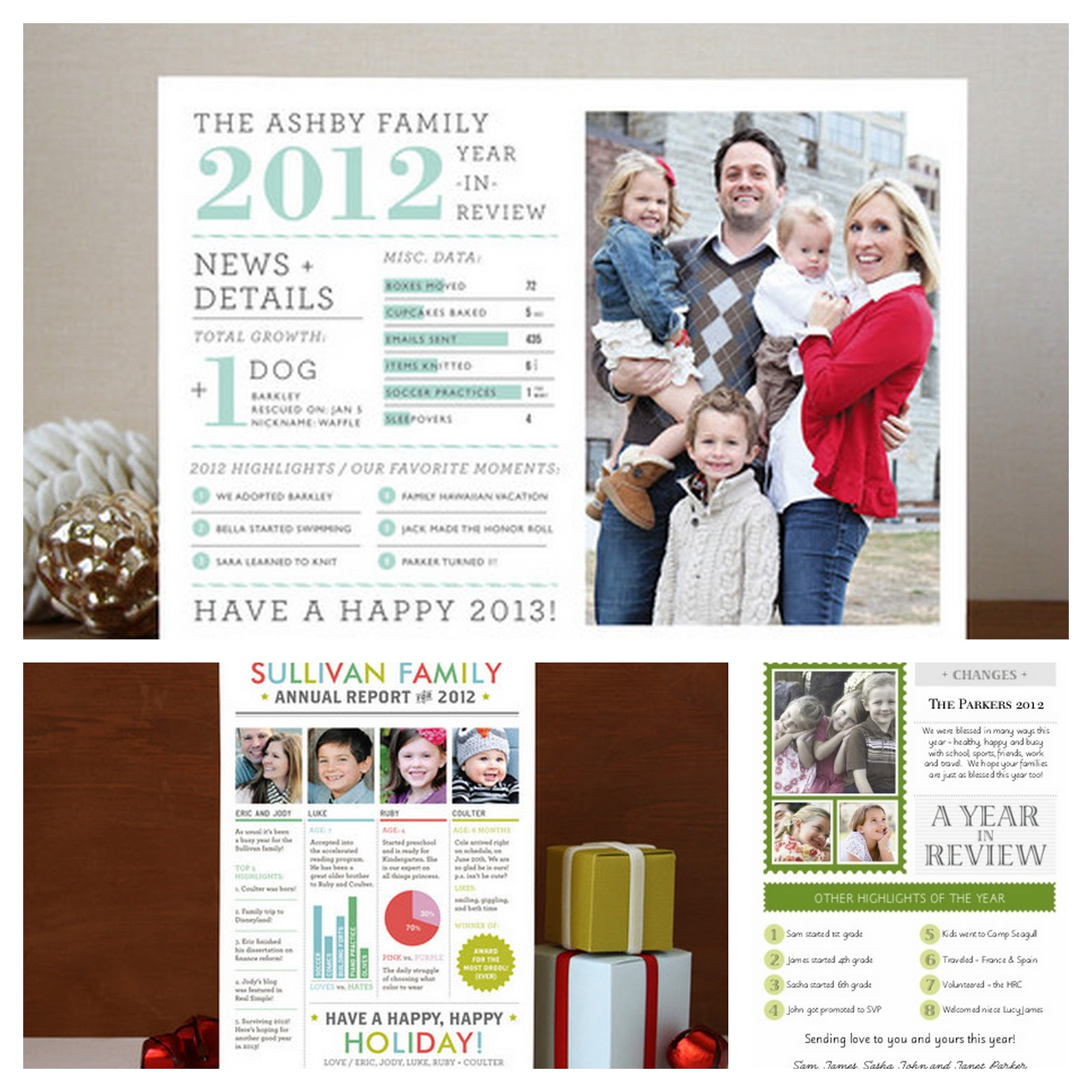 holiday card newsletter collage what a great idea for family that
