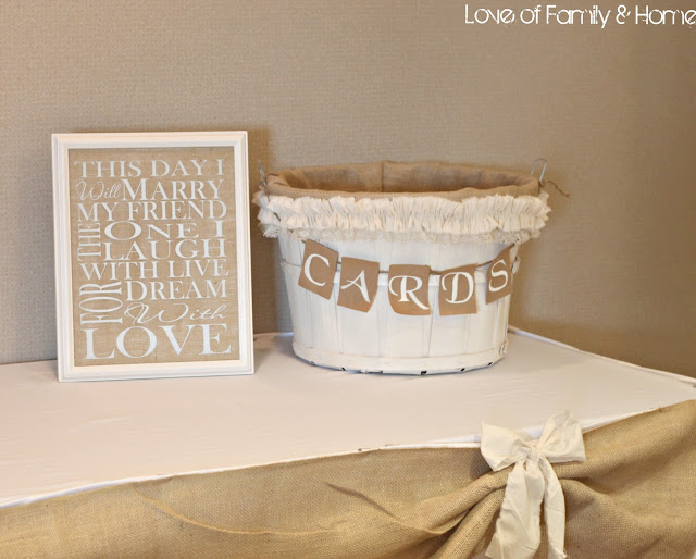 Diy rustic chic fall wedding reveal love of family for Table 6 gift card
