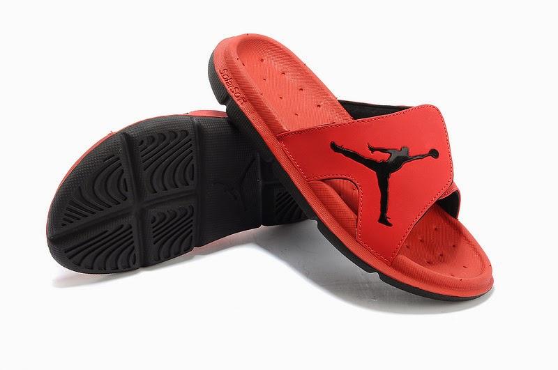 12ff8cf577dcb7 Air Jordan Solar-soft Slide Slippers- Red Black