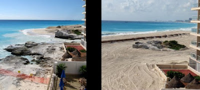Crazy beach recovery in Cancun
