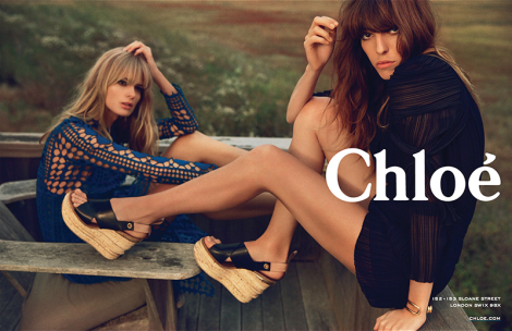 Julia Stegner and Lou Doillon for Chloé SS14