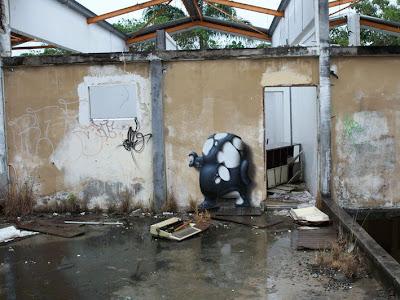 black, white, character, mural, art, 3d, graffiti, urban art