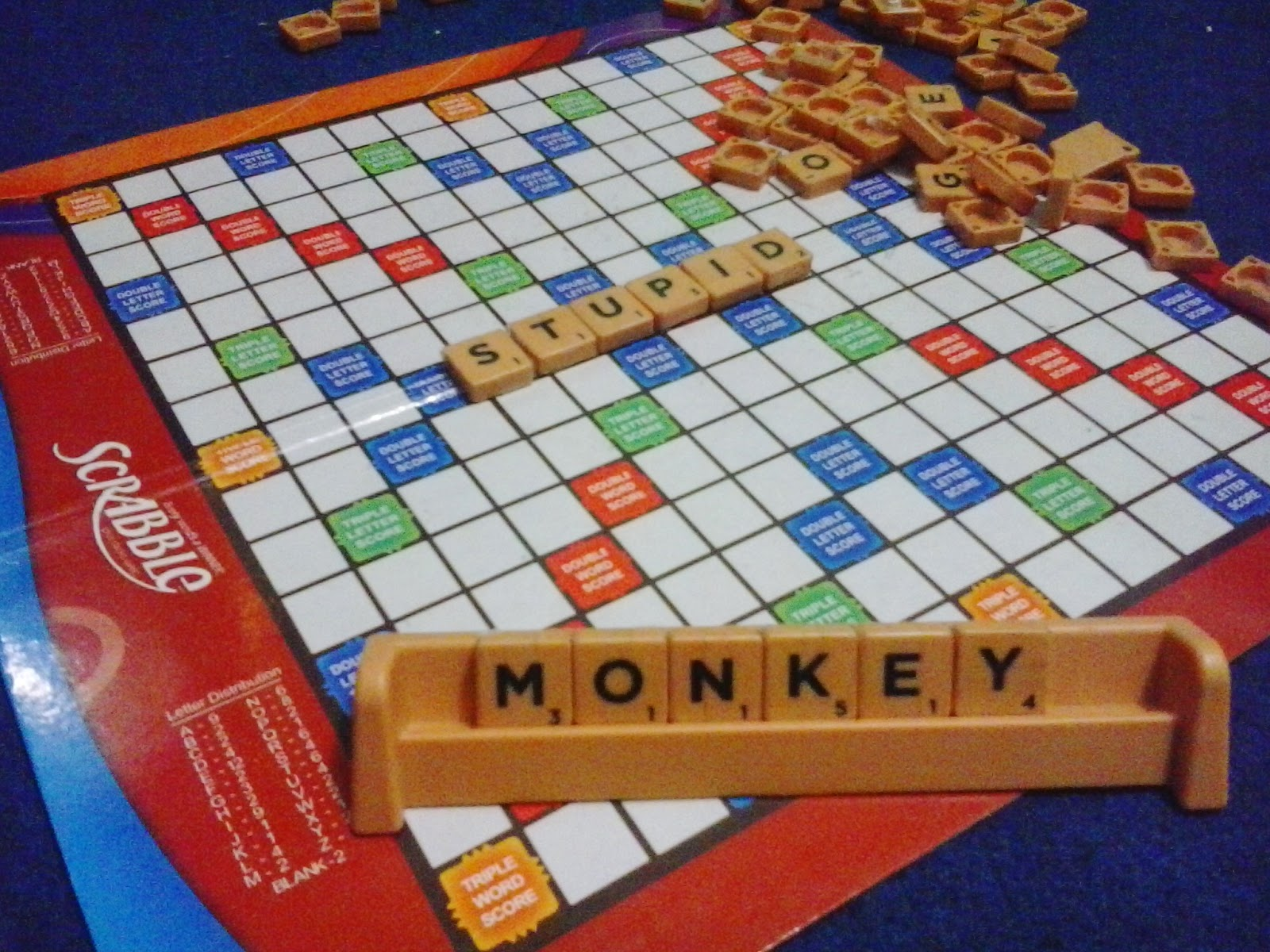 Scrabble Stupid Monkey