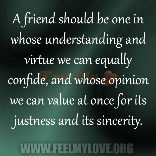Friend Quotes Understanding : Value quotes feel my love