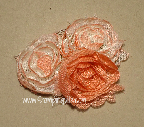 Stampin' Up! Flower Trim dyed two ways
