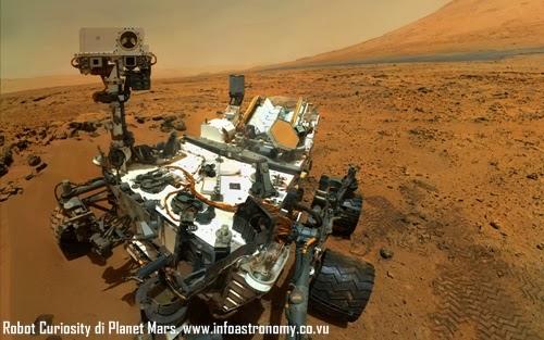Robot Curiosity Temukan Bukti Baru Adanya Air di Planet Mars