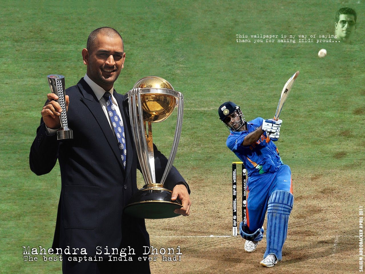 Cool Background Wallpapers: Dhoni Wallpapers