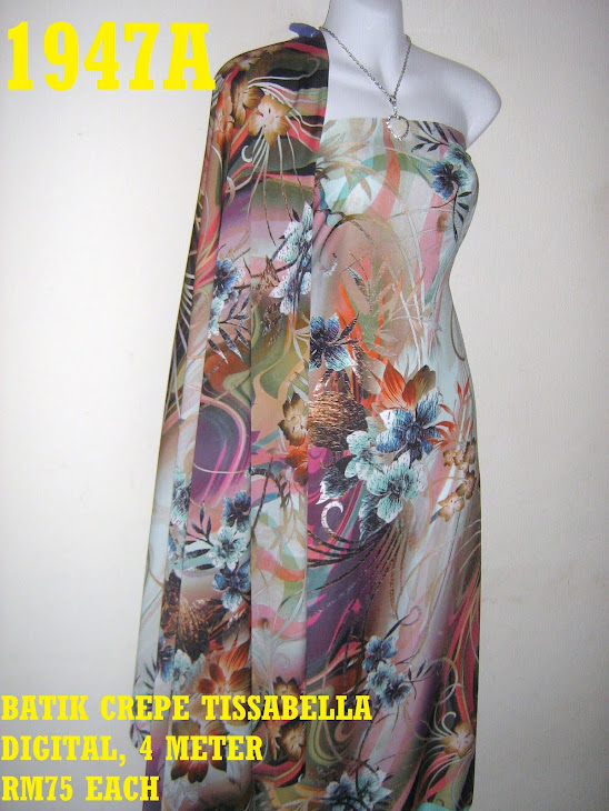 BCT 1947A: BATIK CREPE TISSABELLA DIGITAL, 4 METER