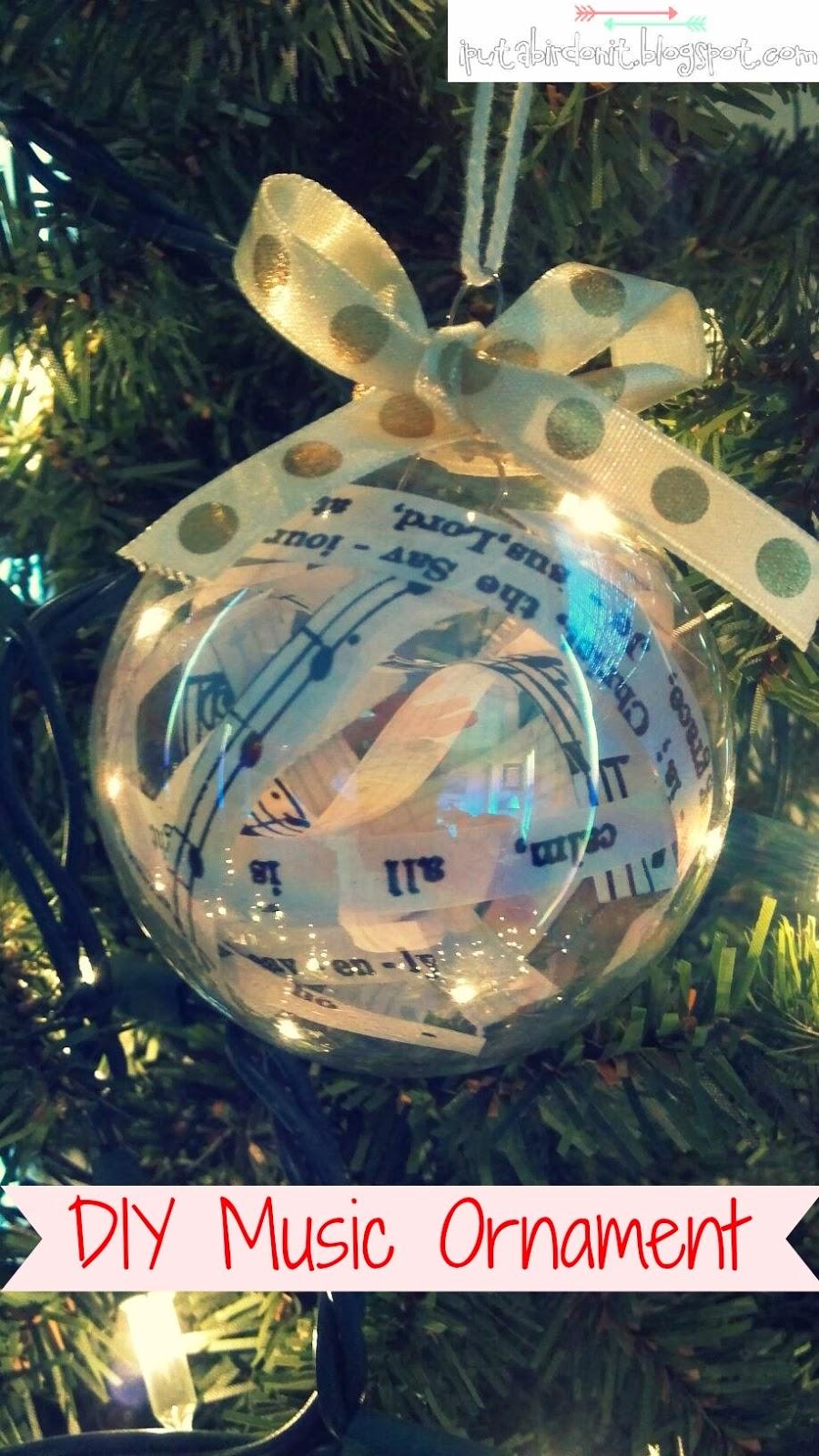 Christmas music ornaments - Diy Music Christmas Ornament