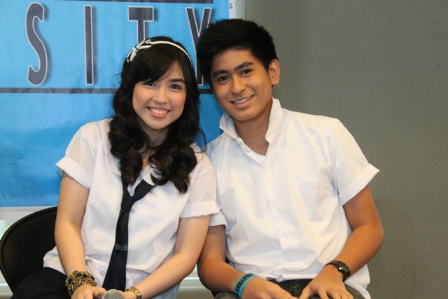 Angeli Gonzales and CJ Navato of LUV U