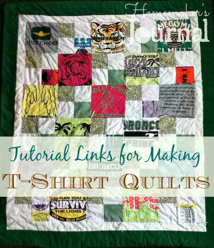 Homemakers Journal T Shirt Quilt Tutorials