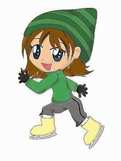 Ice Skates cute cartoon girl