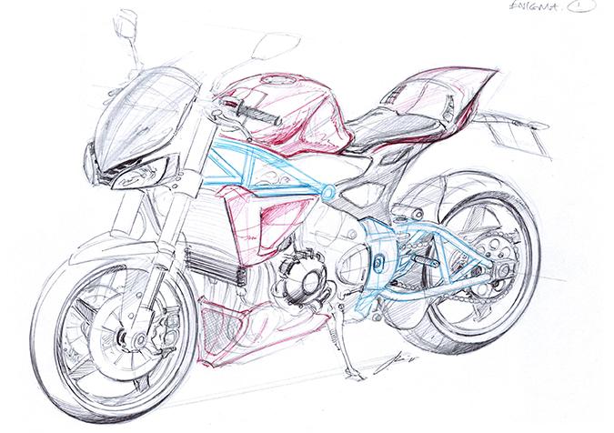 Dibujo de moto a lapiz - Imagui