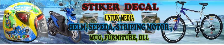 Ciptakan Kreasi Dengan Stiker Air Pada Media Helm, Sepeda, Striping Motor, Mug, Dll