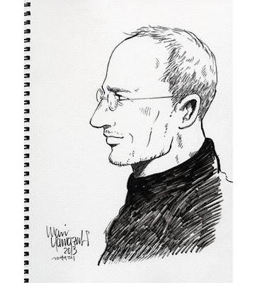 Imagem de perfil de Steve Jobs versão manga (Divulgação)