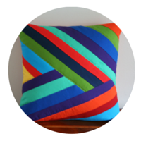 Falling Rainbow Pillow