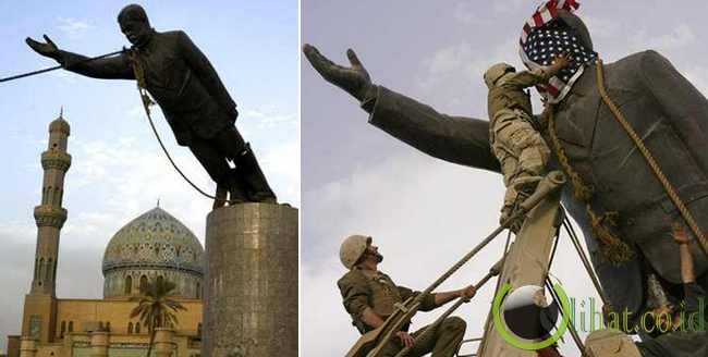 Saddam's Statue Toppled