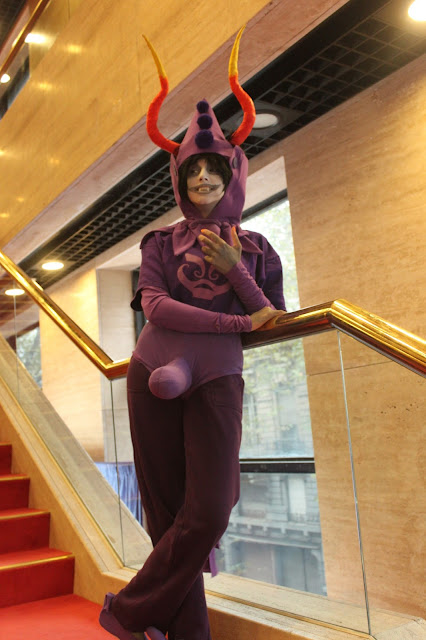 purple comic costume