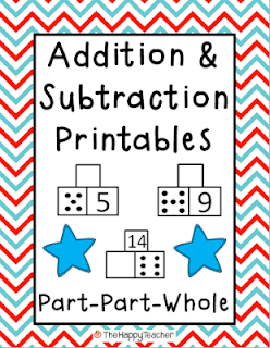 math worksheet : thehappyteacher addition  subtraction printables part part whole : Checking Subtraction With Addition Worksheet