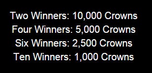 Earn Crowns Raffle