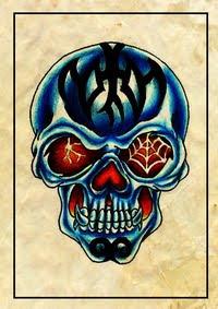 skeleton tattoos,skull tattoos,bones tattoos,nun tattoos,pray tattoos,praying tattoos,roses tattoos,flowers tattoos,banner tattoos,memorial tattoos,in-memory-of tattoos,honor tattoos,freaky tattoos,weird tattoos