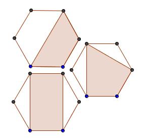 Cuadriláteros en un hexágono