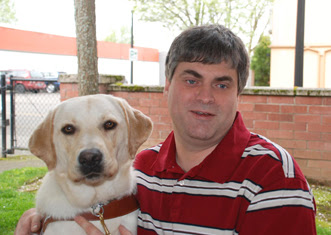 Bob Bosken with his Guide Dog Perez