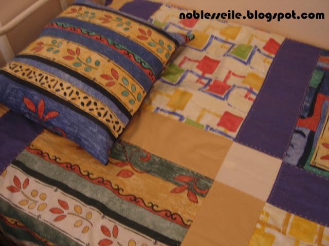 patchwork yatak örtüsü