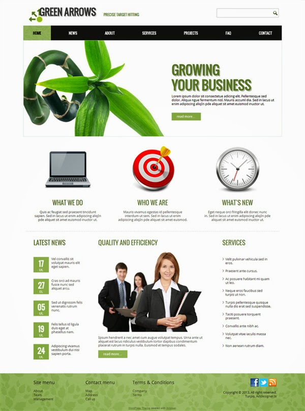 Green Arrows - Free Wordpress Theme