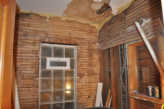 bathroom, leaky ceiling, reno, lathe, water problem