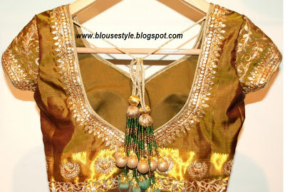 GOLDEN COLOUR DESIGNER BLOUSE