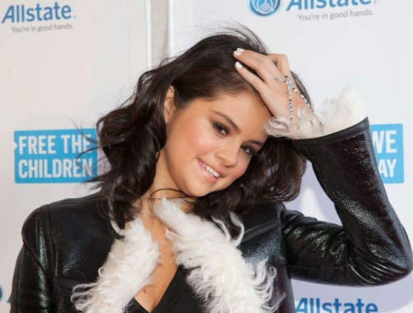 Selena Gomez in denim jeans at the 'We Day Illinois' at the Allstate Arena