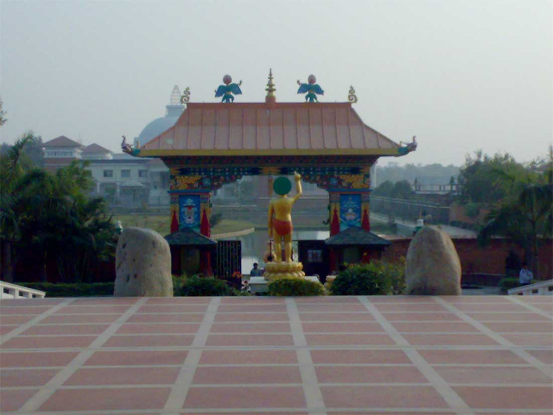 Lumbini Nepal  city photo : Statue Of Lord Buddha at Lumbini, Nepal