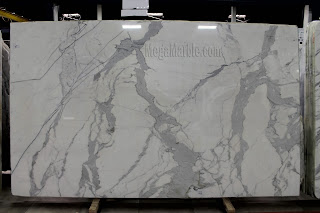 White Marble - Calacatta Gold Premium Marble Slab in New York