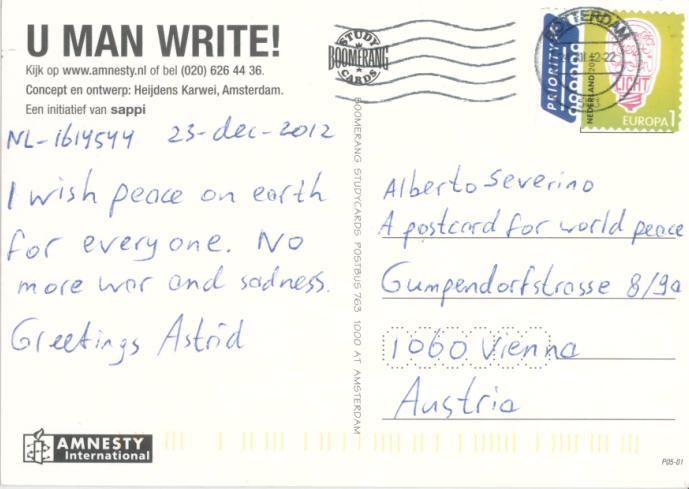 A Postcard For World Peace: 1232. U Man Write!