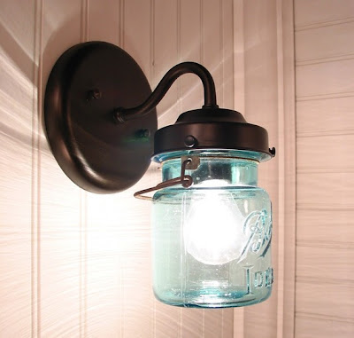 vintage mason jar sconce