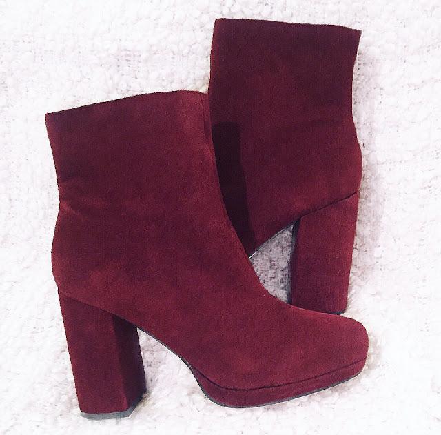 primark burgundy boots